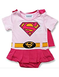 Tenue avec capuchon rose Supergirl. 6-9 Mois 5d9cd4f4188