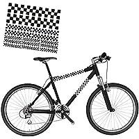 Racing banderas a cuadros de la etiqueta engomada para la bicicleta de montaña ruedas de bicicleta