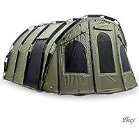 Lucx Bivvy 'Bigfoot' Angelzelt 2-6 Man XXL Karpfenzelt Carp Dome Fishing Tent Camping Zelt Bigfooot-Tienda de campaña para 2 a 6 Personas, tamaño, Verde Oliva, Oliv Grün
