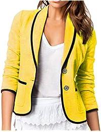 Amazon.es  Amarillo - Trajes y blazers   Mujer  Ropa cc4340923cd1
