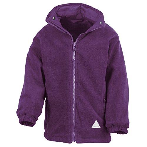 Result Junior/youth reversible StormDri 4000 fleece jacket Purple 2XL Youth Reversible Jacket