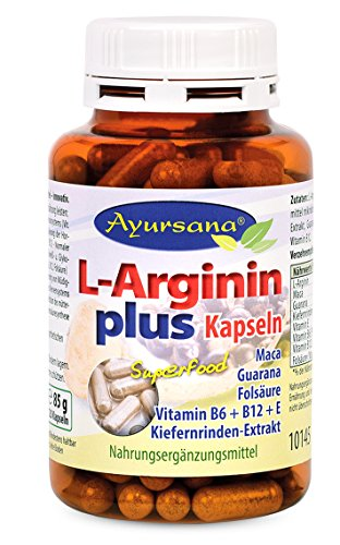 Ayursana - L-Arginin Plus Kapseln, aus Kiefernrinde (120 Stück)