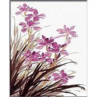 dorara aceite pintura para adultos niños pintura por número Kit Digital de pintura al óleo de orquídea flores 16x 20pulgadas