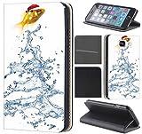Samsung Galaxy S6 G920 Hülle von CoverHeld Premium Flipcover Schutzhülle S6 G920 aus Kunstleder Flip Case Motiv (1039 Gold Fisch)