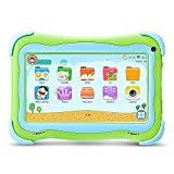 YUNTAB Q91 Tablet infantil de 7 pulgadas (Android 5.1, Quad-Core,Allwinner A33, WiFi, Bluetooth, HD 1024x600, 8GB ROM, Tarjeta TF 32 GB, Doble Cámara, Google Play, Juegos Educativos) (Q91, verte)