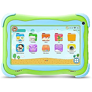 YUNTAB Q91 Tablet Infantil de 7 Pulgadas (Android 5.1, Quad-Core,Allwinner A33, WiFi, Bluetooth, HD 1024x600, 1+16GB , Tarjeta TF 32 GB, Doble Cámara, ...