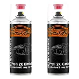 TRISTARcolor 2 x 2K Spraydose Profi KLARLACK hochglänzend 400 ml Autolack Sprühdose