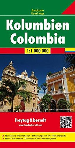 Colombia, mapa plegado de carreteras. Escala 1:1.000.000 Freytag & Berndt (Auto karte) por VV.AA.