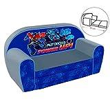 Kindersofa Sofa Couch Kinder Stuhl Kinderzimmer Softsofa Sessel Ausklappsofa (Sofa, Transformers)