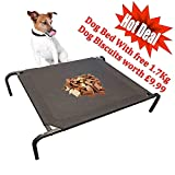HEAVY DUTY WATERPROOF ELEVATED PET DOG CAT BED OUTDOOR/INDOOR CUSHION STRONG STURDY FRAME (LARGE)