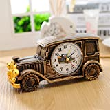 A : 1x AA Battery Luxury Car Pattern mute Number Alarm Clock Student