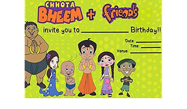 Birthday Invitation Cards Kids Invitation Cards Chota Bhim