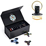 MMTX Fidget Spinner Case Holds ADHD Anxiety Toys Stress Relief Fidgets Toys Compact Storage Case with One Free Fidget spinner holder