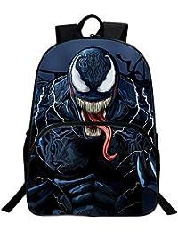 JUNMAONO Venom Bolsa Escolares Mochila Escolar con Bandolera Saco Doble Hombro Moral Petate Bolsas Saco Maleta Portabebé Bolso…
