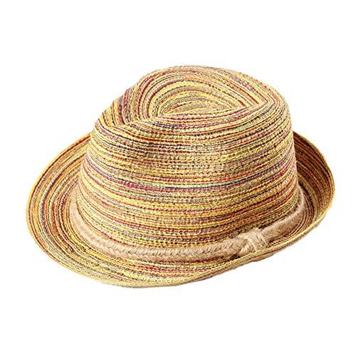 Kentop Panamahut Damen Herren Strohhut Panama Sonnenhut Faltbarer Strandhut