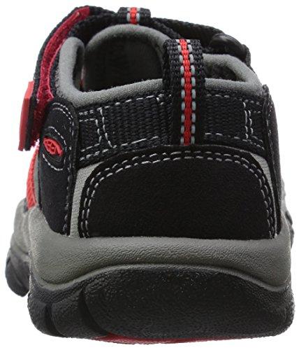 UCZ Newport H2, Scarpe da Arrampicata Unisex – Bambini Nero (black/racing red multi)