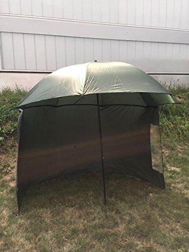 Schirmzelt Anglerzelt Anglerschirm 2,50m Schirm mit Umhang