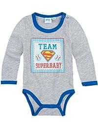 Body bébé garçon manches longues 'Superbaby' Superman Gris/bleu de 3 à 24mois