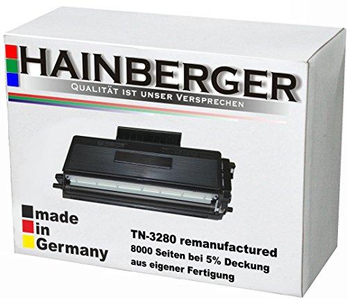 Preisvergleich Produktbild Hainberger Toner für Brother TN-3280 Schwarz, 8.000 Seiten, kompatibel zu TN3280 Geeignet für HL-5370 HL-5340 HL-5380 HL-5350 DCP-8070 D DCP-8080 DN DCP-8085 DN DCP-8800 Series DCP-8880 DN DCP-8890 DW HL-5300 Series HL-5340 DL DN DNLT D DN 2 LT DW HL-5350 DNLT DN 2 LT DN HL-5370 DW W HL-5380 DN Praxis DW DWLT DN D MFC-8370 DN MFC-8380 DLT DN MFC-8880 DN MFC-8885 DN MFC-8890 DW