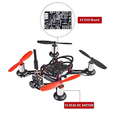 SunFounder BEE-100 100mm Micro FPV Racing Quadcopter Drone 600TVL 5.8G 40CH 25mW Camera 1S 8520 DC MOTOR F3 EVO Brush Flight Controller Carbon Fiber Frame Kit