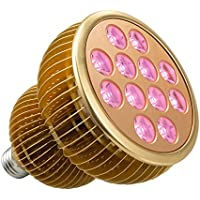 TaoTronics Pflanzenlampen Pflanzenlampe LED Vollspektrum Grow Light Wachstumslampe mit 12 * 3W LEDs, Pflanzenleuchte Pflanzenlicht kompatibel mit Standard E26/E27 Buchsen