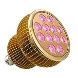 Pflanzenlampen TaoTronics Pflanzenlampe LED Vollspektrum Grow Light Wachstumslampe mit 12 * 3W LEDs, Pflanzenleuchte Pflanzenlicht kompatibel mit Standard E26/E27 Buchsen