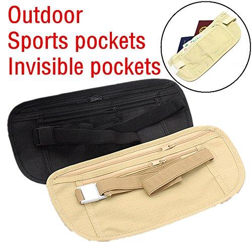 sunnymi Anti Theft Gürtel Tasche Geldbörse Camping Go Outdoors Wasserdicht Ultralight Sport Jogging Pouch Pocket (Schwarz) (Kinder-terrasse-gartenmöbel)