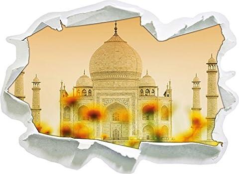 Taj Mahal à la taille de la vignette été, mur 3D de papier: 92x67 cm décoration murale 3D Stickers muraux