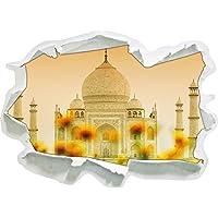 Taj Mahal in formato adesivo estate, carta da parati 3D: 92x67 cm decorazione della parete 3D Wall Stickers parete decalcomanie
