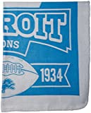 Officially Licensed NFL Marquis Fleece Throw Blanket - Detroit Lions