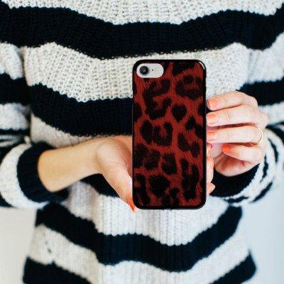 Apple iPhone X Silikon Hülle Case Schutzhülle Leopard Muster Leo Hard Case schwarz