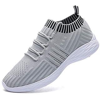 NASONBERG Damen Leichte Laufschuhe Trainer Sneaker Turnschuhe Atmungsaktive Fitnessschuhe Sportschuhe,Grau,37 EU