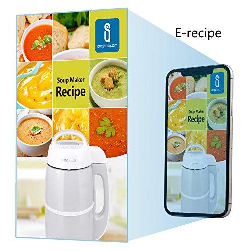 Aigostar Beanbaby 30IMW – SOY MILK Maker / Soup maker cuoci e frulla, incluso ricettario PDF. Cuocipappa Potente frullatore da 952W e capacità da 1.7L, BPA FREE. Doppio stratto di accaio per una miglior protezione. confronta il prezzo online