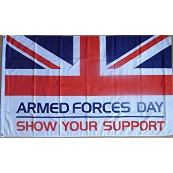 5FT x 3FT UNION JACK FLAG ARMED FORCES DAY /& BRITISH EVENTS HELP THE HEREOS