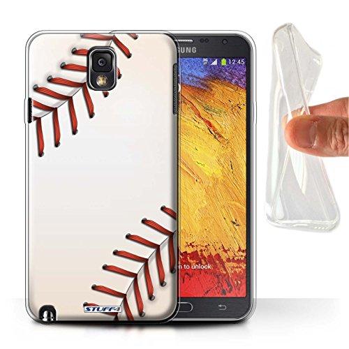 Stuff4 Gel TPU Hülle / Hülle für Samsung Galaxy Note 3 / Baseball Muster / Sport Bälle/Ball Kollektion (Alice Baseball)