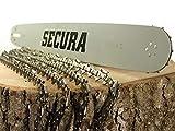 4 Sägeketten + Schwert passend Kettensäge Stihl 35cm Kette 3/8' 1,3mm SECURA