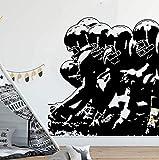 Sticker mural Amérique Football Joueur Ligne Sticker Garçon Chambre Chambre Rugby Sport Joueur Athlète Sticker Mural Vinyle Enfants Chambre Salle De Jeux 56 * 59 cm