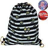 Turnbeutel Kinder mit Auswahl - Turntasche - Umhängetasche - Schultasche - Umhängebeutel (Minions schwarz-weiß)