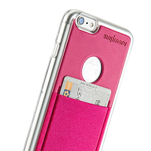 iPhone 6 Plus Wallet Case, Sinjimoru iPhone 6 Plus Hard Case mit Kartenhalter / Schutzhülle mit Smart Wallet Kartenfach auf der Rückseite. Sinji Pouch Case für iPhone 6 Plus / 6s Plus, Pink. Pink