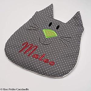 Wärmekissen mit Namen: graue Katze.
