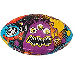 Idea Regalo - OPTIMUM Cartoon Ball, Pallone da Rugby Monster, SpaceMonster, Misura 3 Unisex Adulto, Space Monsters, Size 3