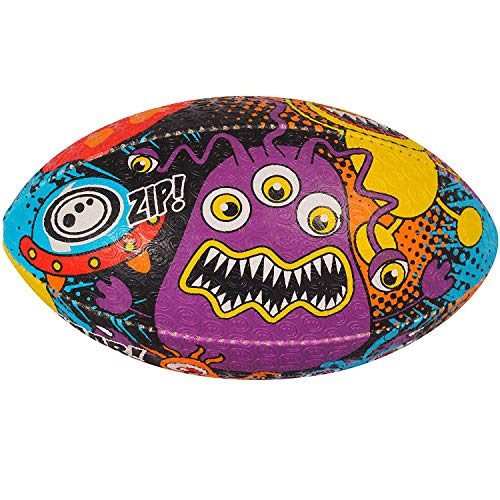 OPTIMUM Unisex-Adult Space Monster Rugby Ball, SpaceMonster, Size 3, Mehrfarbig, 3 -