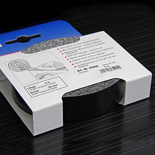Kantenumleimer für Möbelbauplatten und Regalbretter Schwarz 5 m x 20 mm