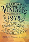 Premium Vintage Made In 1978 Aged To Perfection All Original Parts: 2018 - 2019 Calendars, Journal, Planners & Personal Organizers - Organization - ... Gifts For Women, Books, Journals, Planners)