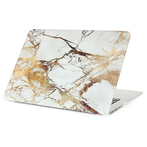 MacBook Air 11 Hülle,Aomo MacBook Air 11 Zoll Tasche Marmor Muster Gummi Beschichtet Hartschale Sleeve Schutzhülle für Macbook Air 11.6 Modell: A1370/A1465 [Marmor Muster Weiß 02]