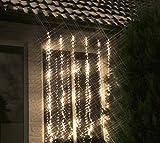 Lumineo 494760 320er LED Kette Eisregen 5 Programme Schneefalleffekt Kabel transparent IP44 Spritzwassergeschützt 1 x 2 Meter
