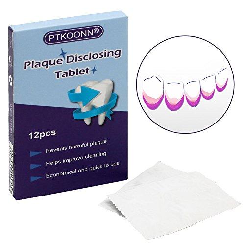 Plaque Test,Plaquetest Tabletten,Plaqsearch,Kautabletten Zur Aufdeckung Von Zahnbelag Plaque Mit Fruchtgeschmack - 12 Tabletten