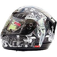 Casco de Motocicleta de Cara Completa, Casco Transparente antifogging de Doble Lente, Gorros de