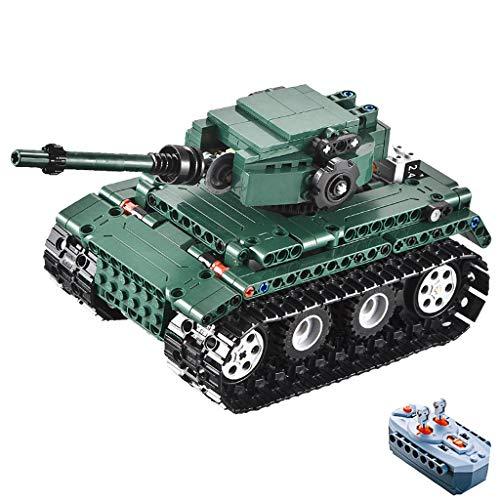 Homyl RC Ferngesteuerte Fahrzeuge Auto montieren Bausteine Spielzeug mit 2,4 GHz volle Funktion Fernbedienung - Tank Volle Funktion Fernbedienung