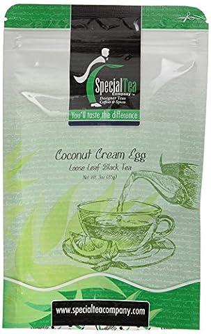 Coconut Cream Egg Loose Leaf Black Tea 3 oz. with Free Tea Infuser
